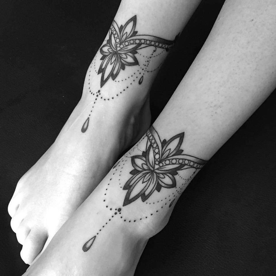 Cute girly tattoos on legs