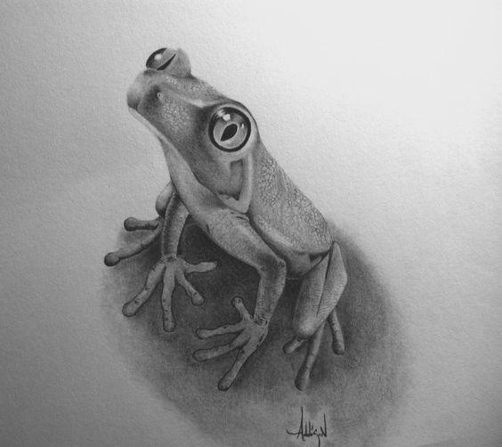 Cute grey curious reptile tattoo design