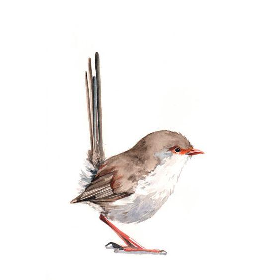 Cute little colorful bird tattoo design