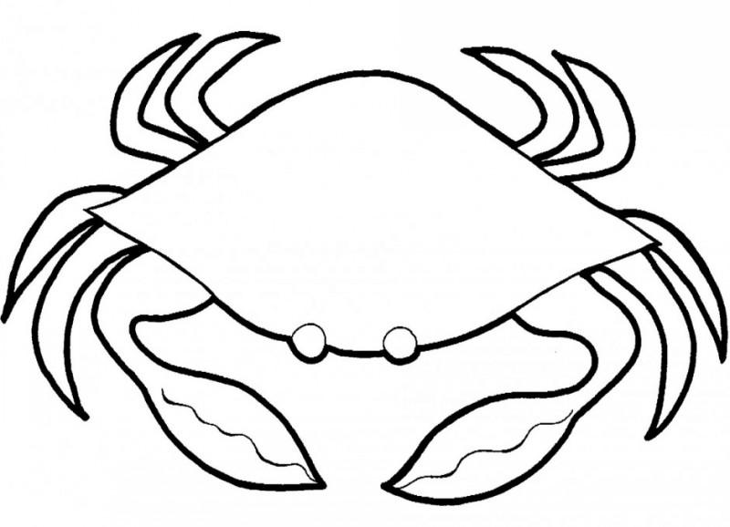 Cute outline crab tattoo design