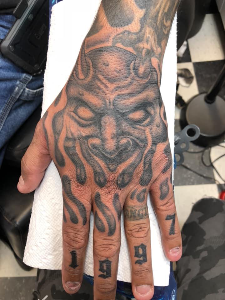 Devil Tattoo On Hand By James Mullin Tattooimagesbiz
