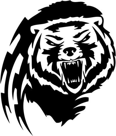 Dire tribal grizzly tattoo design