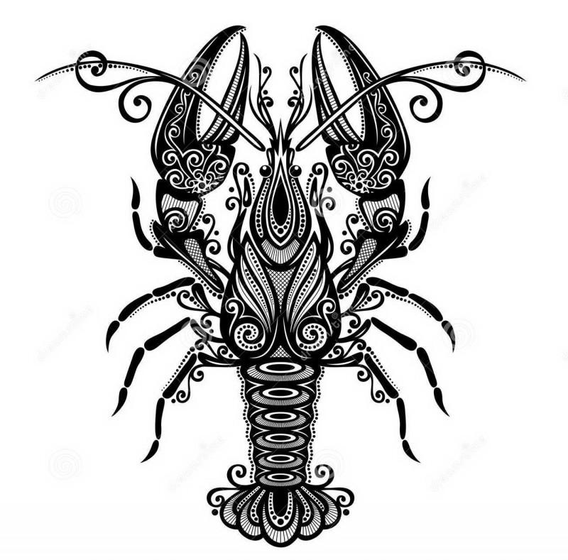 Elegant printed water animal tattoo design for girls