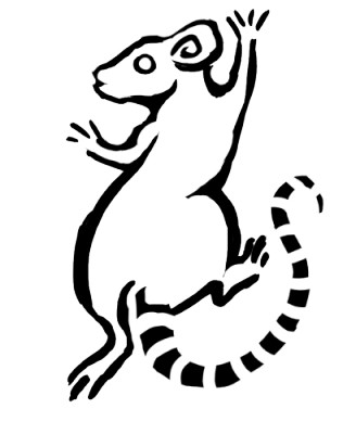 Escaping rodent with striped tail tattoo design by The Redhybrid