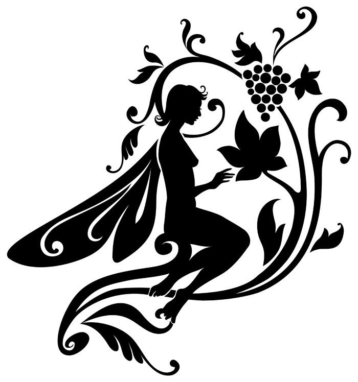 Fairy lover and vine branch tattoo design