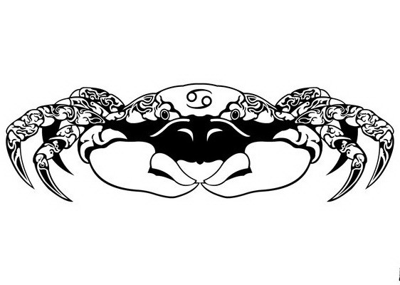 78c7fc322 Flash black tribal zodiac crab tattoo design by Gifhaas ...