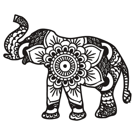 coloring page elephant design - Coloring Page Elephant Design