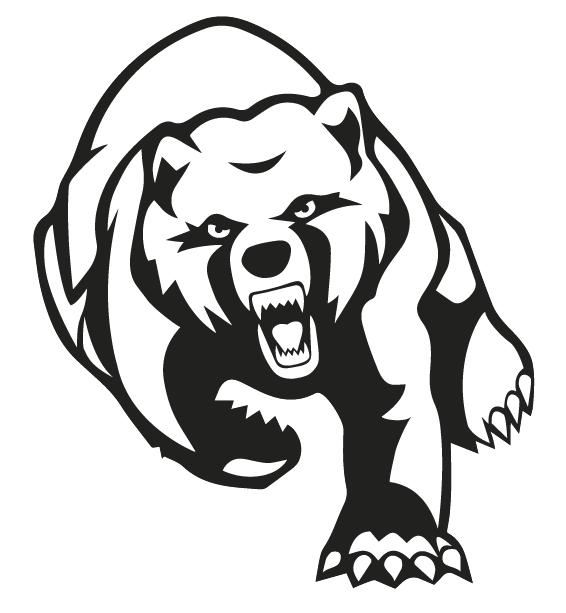 Furious outline running grizzly bear tattoo design  Tattooimagesbiz