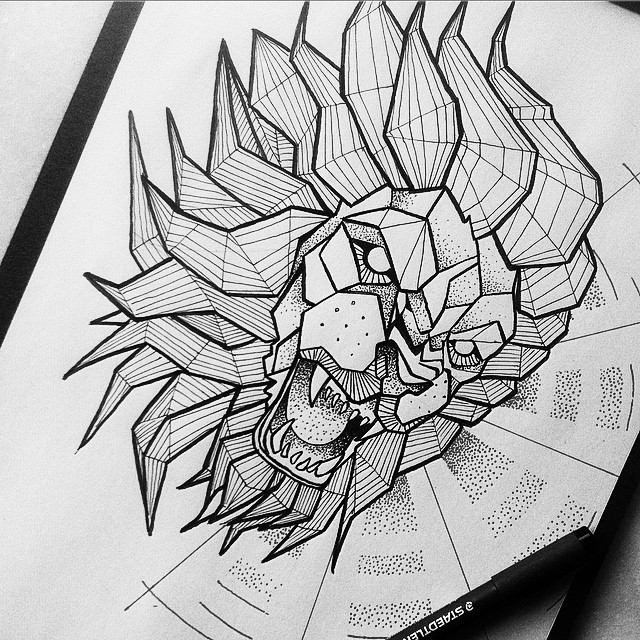 Lion Tattoo Designs Page 5 Tattooimages Biz This lion tattoo is surrounded by outlines of flowers for a touch of femininity. lion tattoo designs page 5