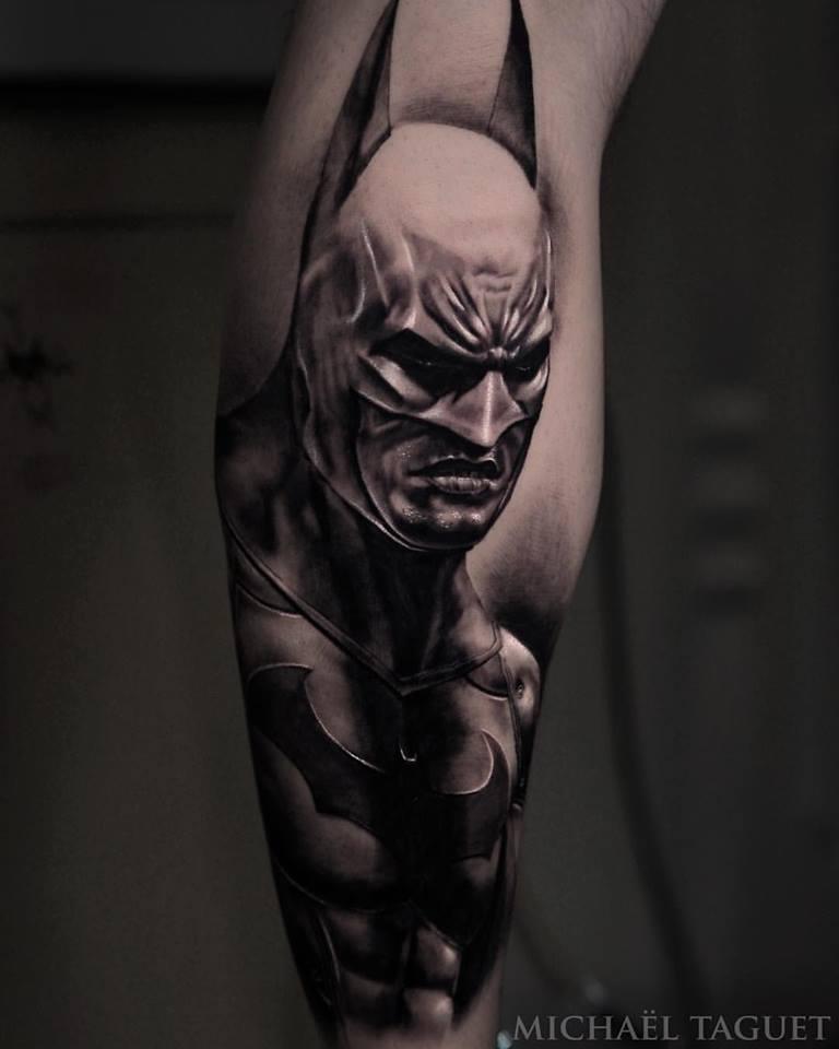 Great Batman  tattoo on arm