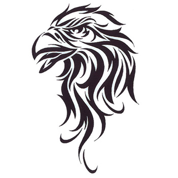 Great tribal eagle head tattoo design