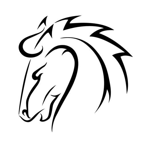 Great tribal horse head tattoo design