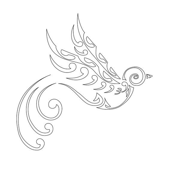 a73ee1fc88cc3 Great tribal outline sparrow tattoo design - Tattooimages.biz