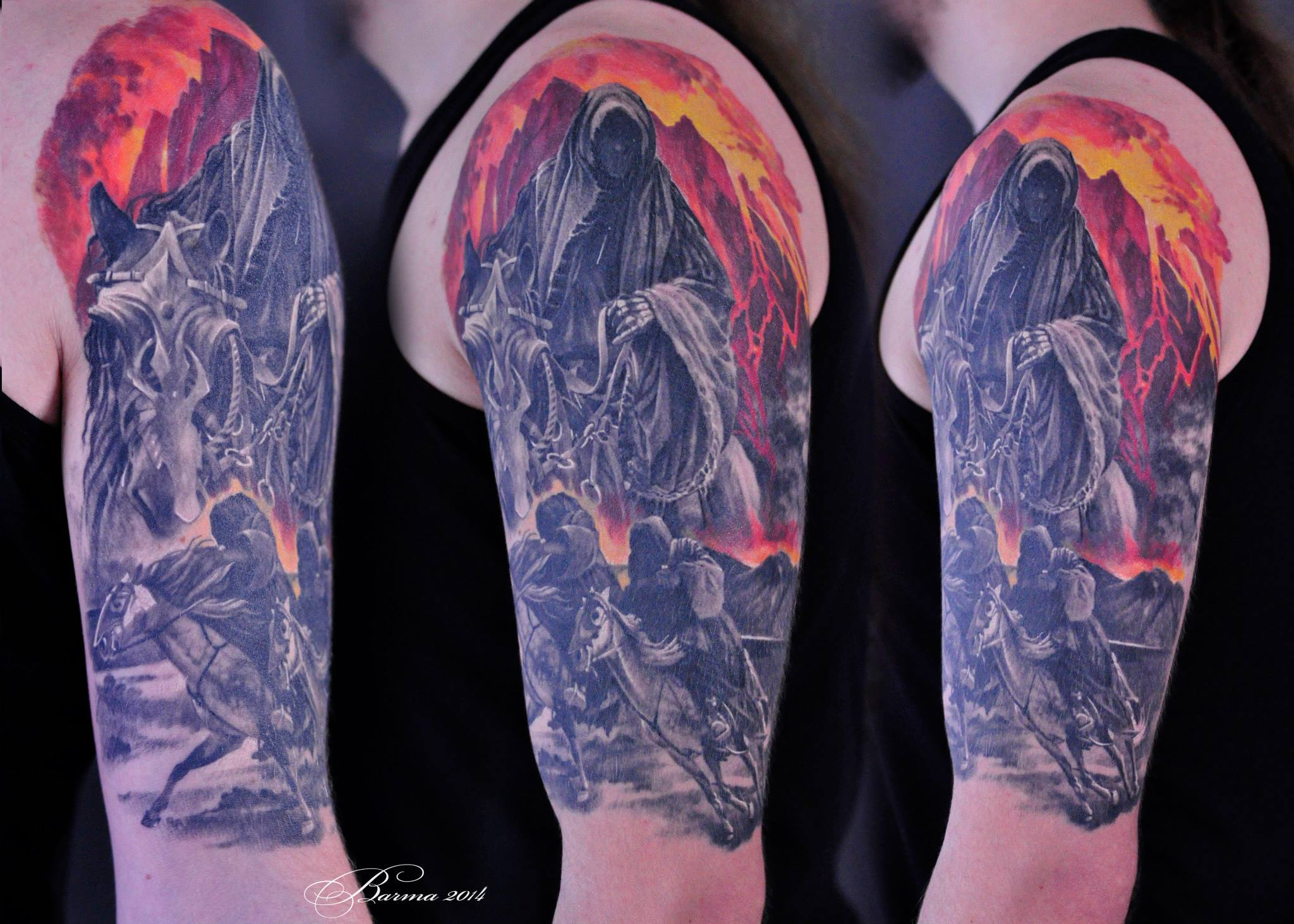 Grim Reaper sul tatuaggio a cavallo