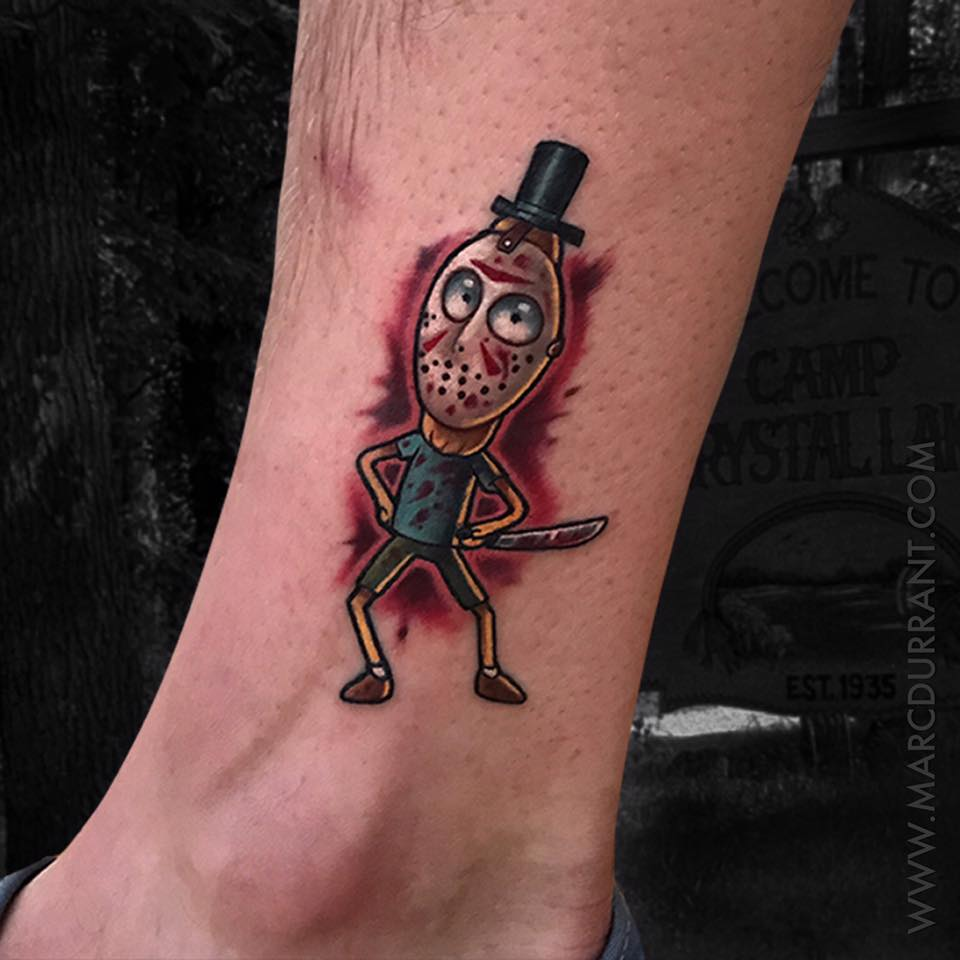 Halloween Rick and Morty tattoo