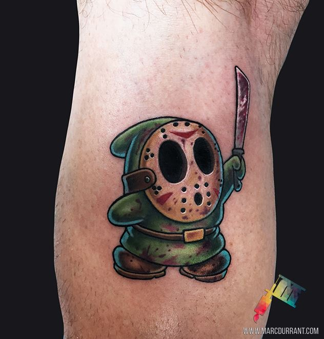 Halloween theme cartoon style tattoo