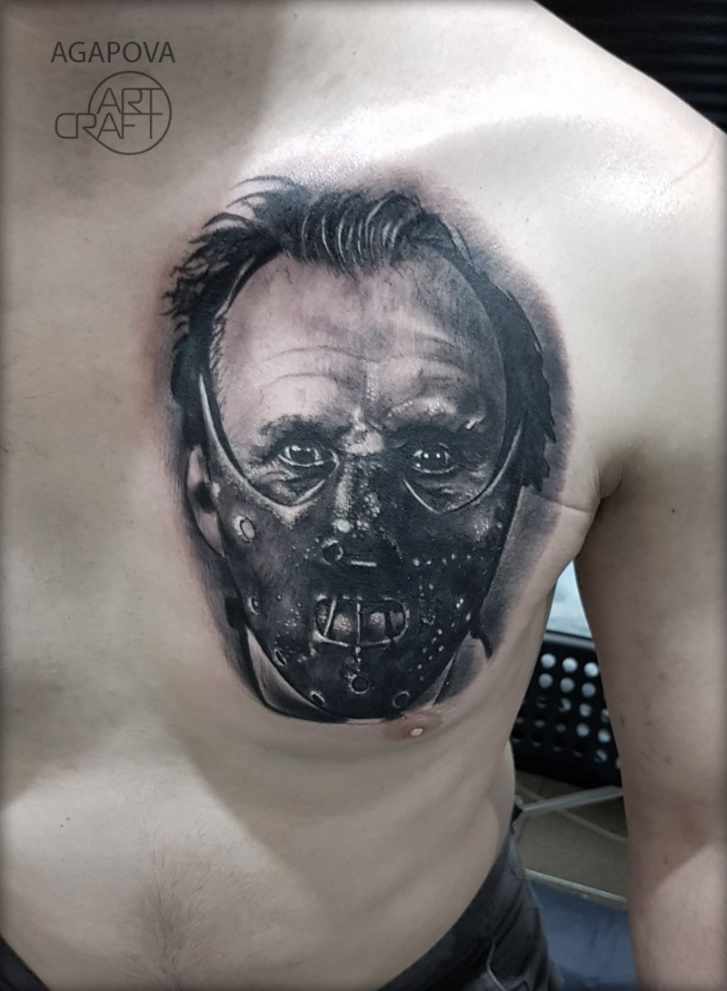Hannibal lecter tattoo on chest