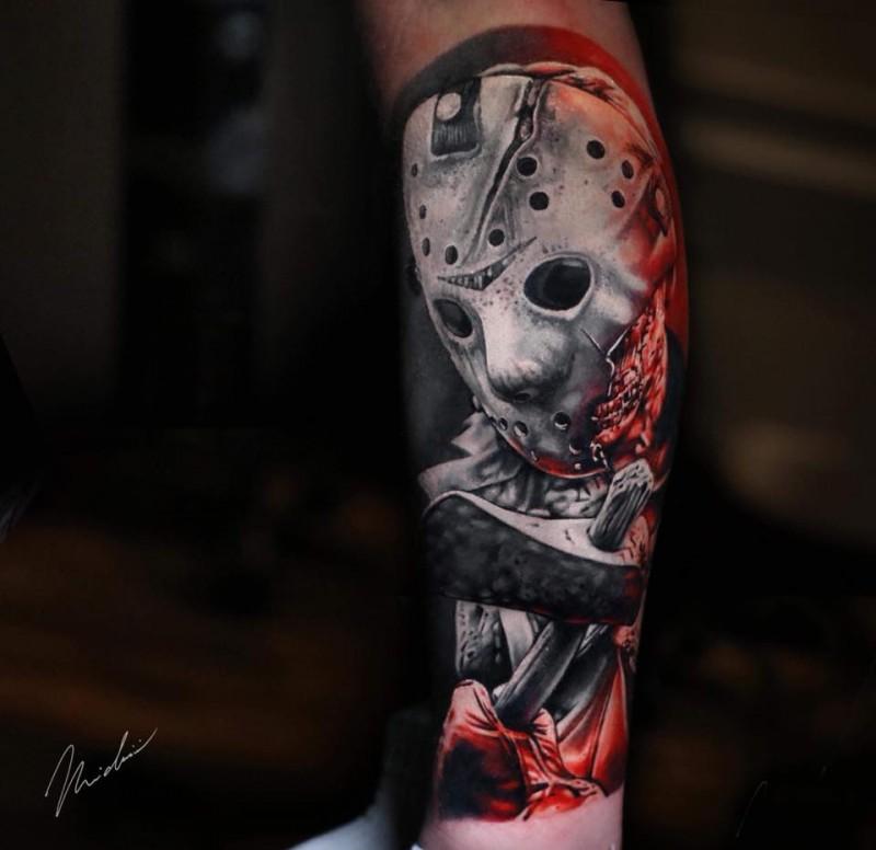 Jason Voorhees movie tattoo