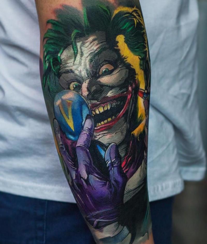 Jocker from Batman movie tattoo