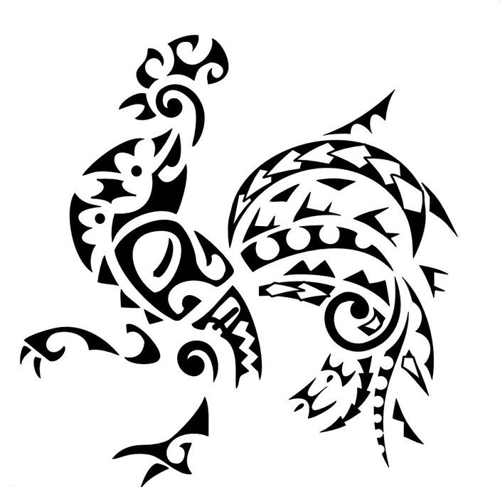 Lordy tribal rooster tattoo design for Funky rooster tattoo and art gallery