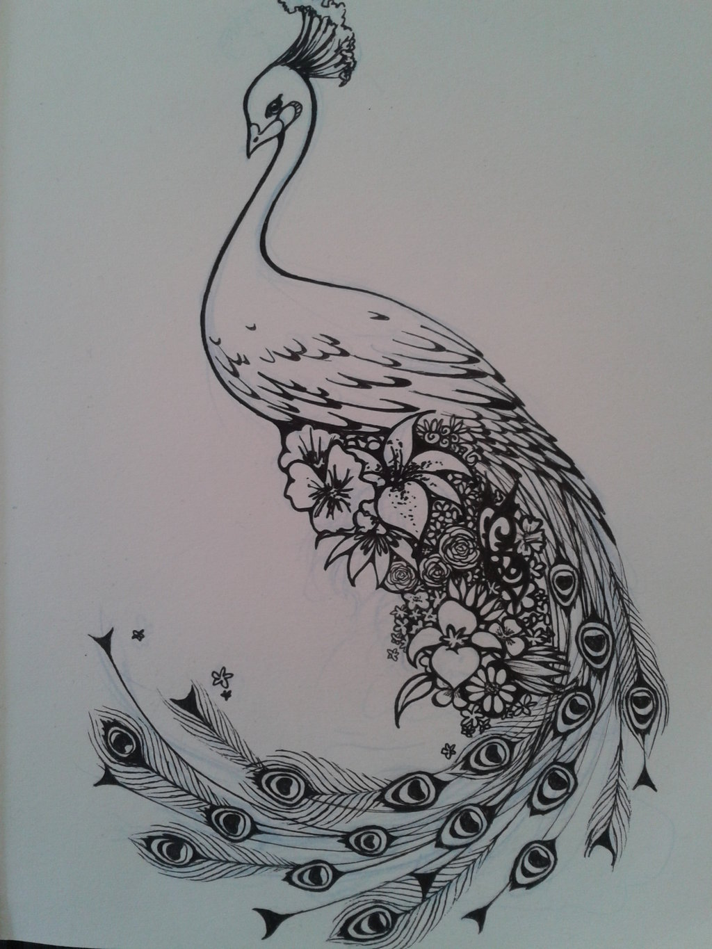 Peacock flower tattoo designs - Peacock Tattoo Designs Page 5