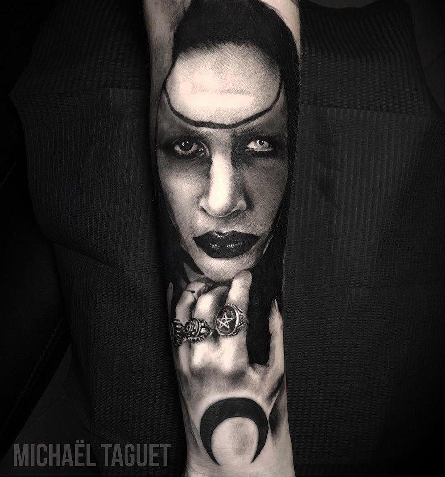 Marilyn Manson realistyc tattoo
