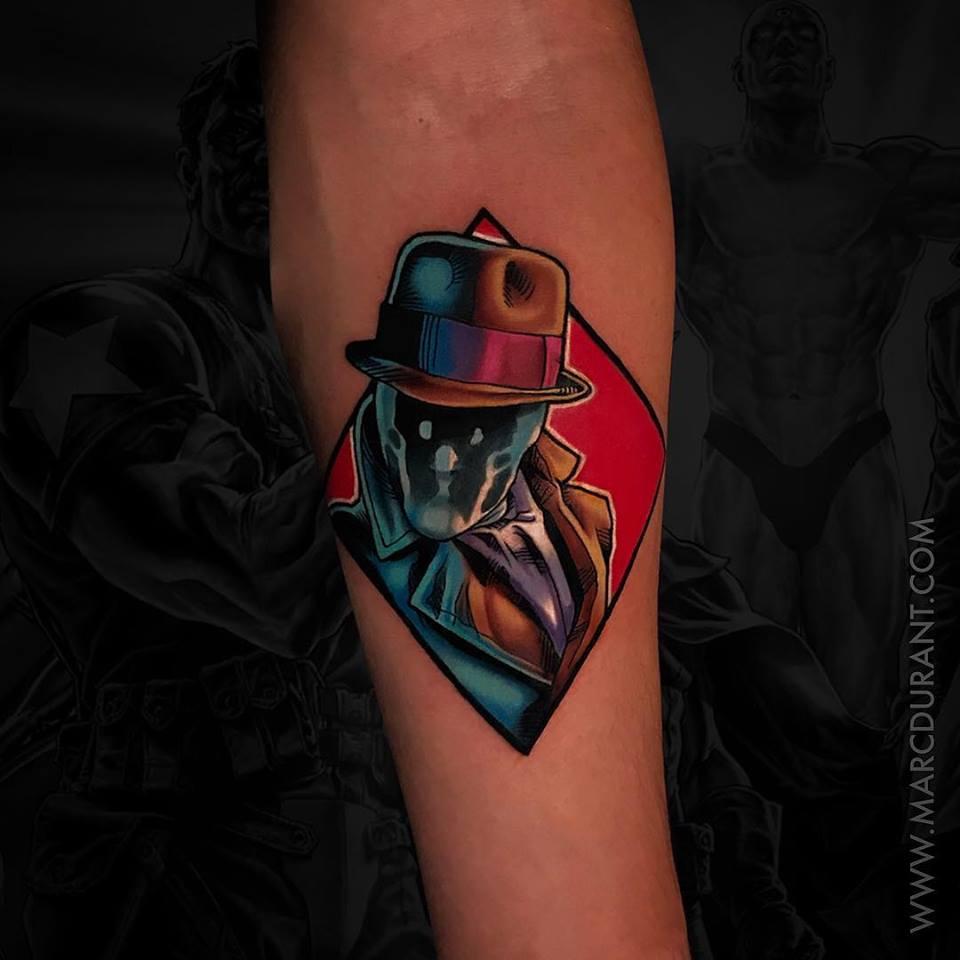 Marvels Rorschach tattoo