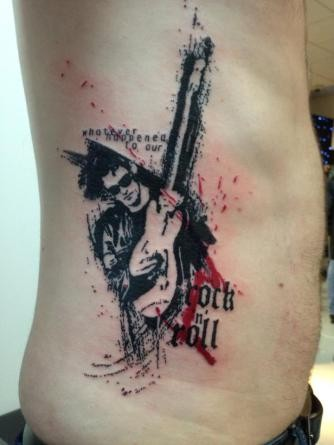Great trash polka pictures for Huma bird tattoo