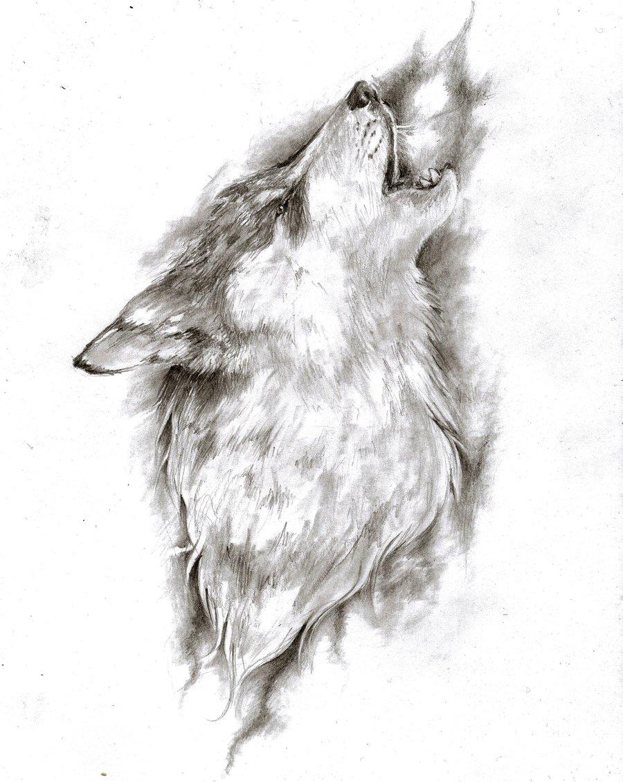 df26c4f36 Mystic wolf howling tattoo design by Bunbun Supreme - Tattooimages.biz