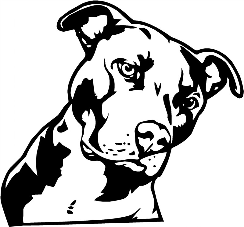 Nice black-ink dog portrait tattoo design