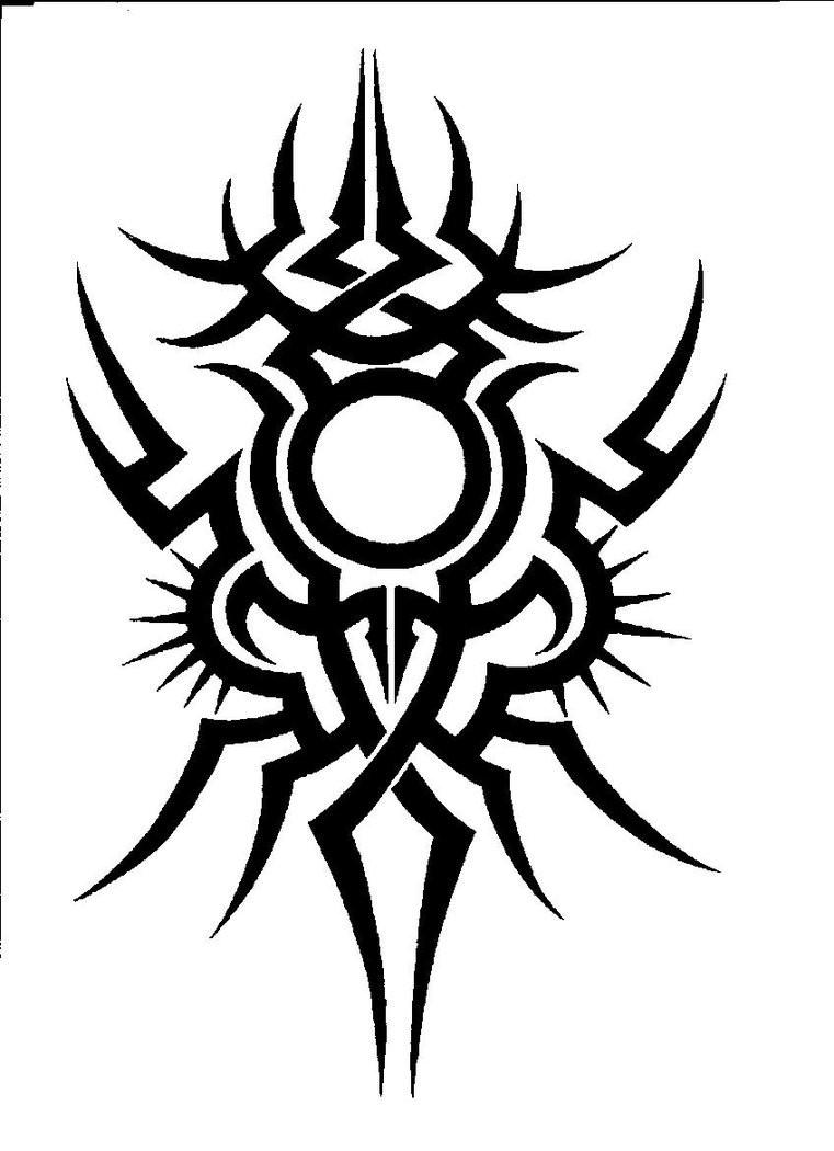 Original tribal bug silhouette tattoo design