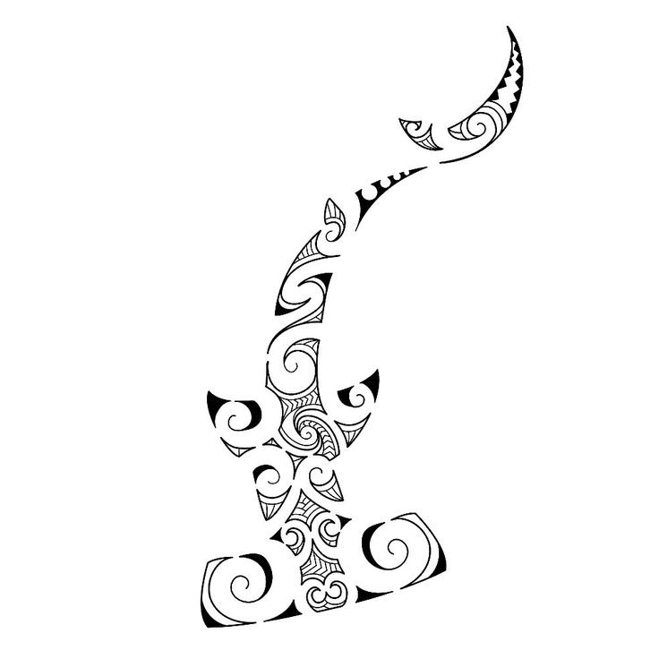 Ornamented hummer shark tattoo design