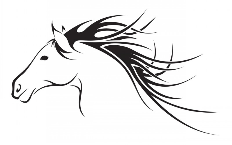 Jumping horse outline tattoo images for Horse jumping tattoos