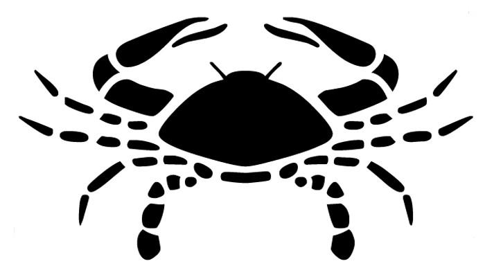 Plain black crab tattoo design