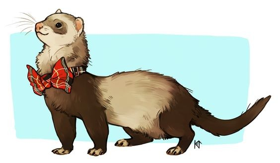 Pleased brown rodent with red tie-bow tattoo design