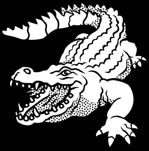 Pretty colorless rawling reptile tattoo design