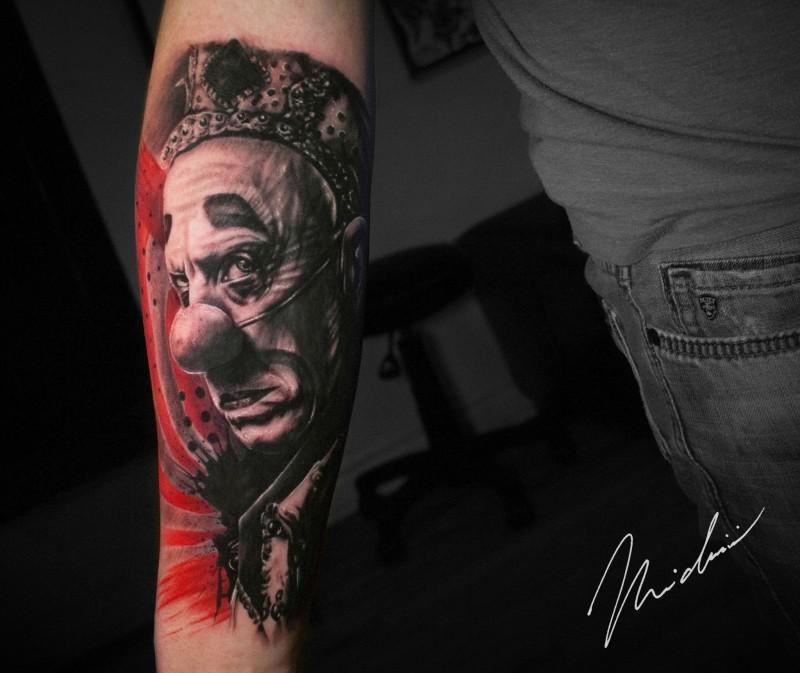 Psycho Circus tattoo on forearm
