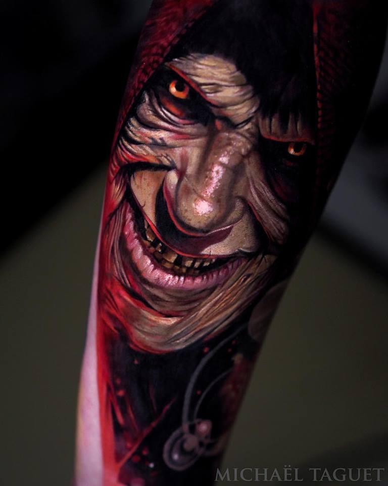 Realistic Darth Sidious tattoo3