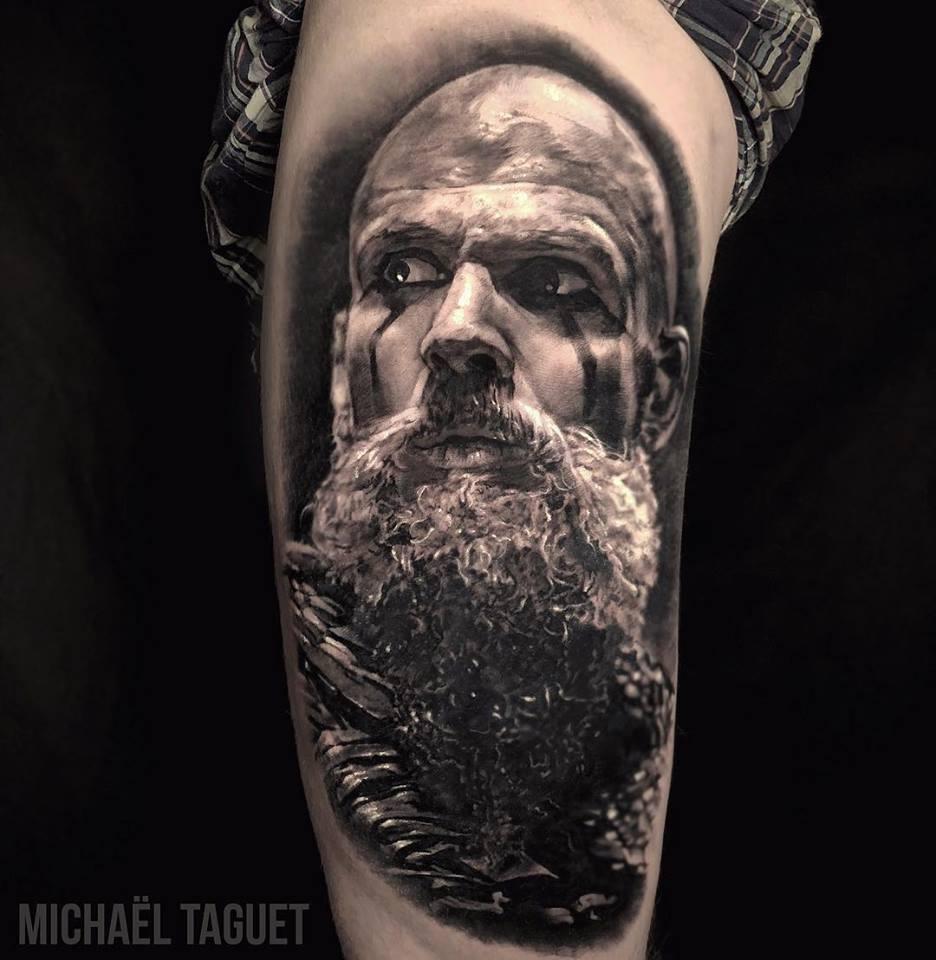 Realistic Floki from Vikings tattoo3