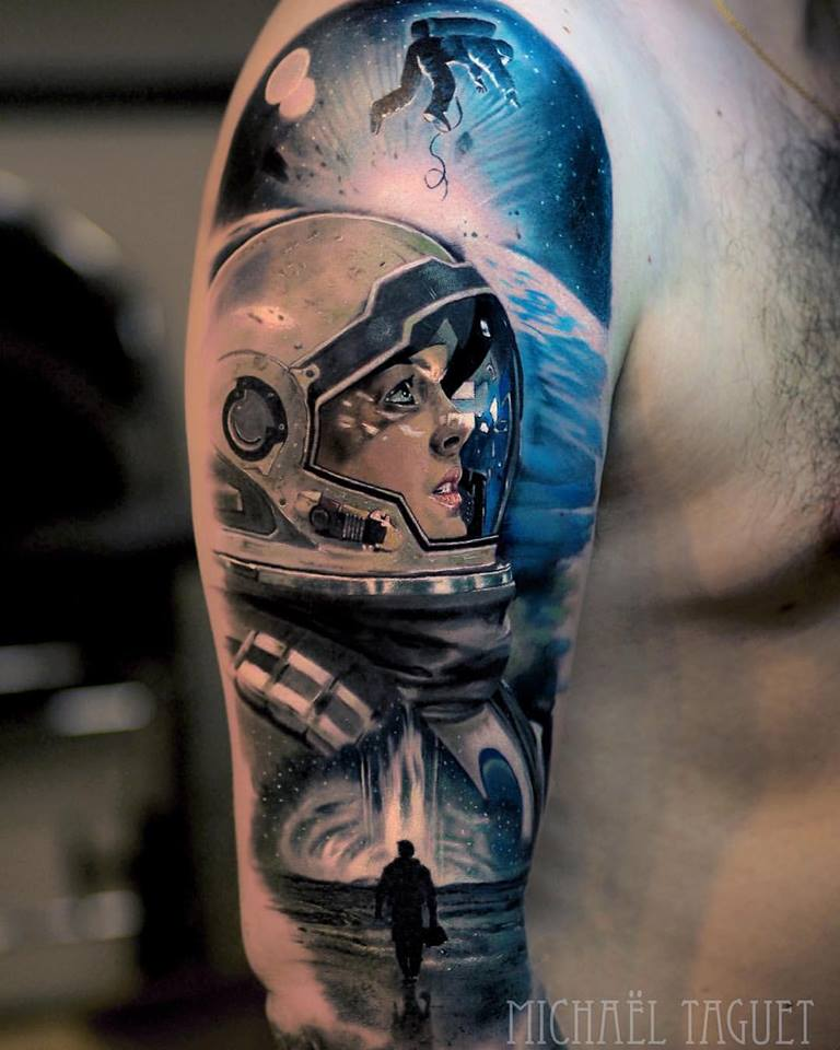 Realistic Interstellar theme tattoo3
