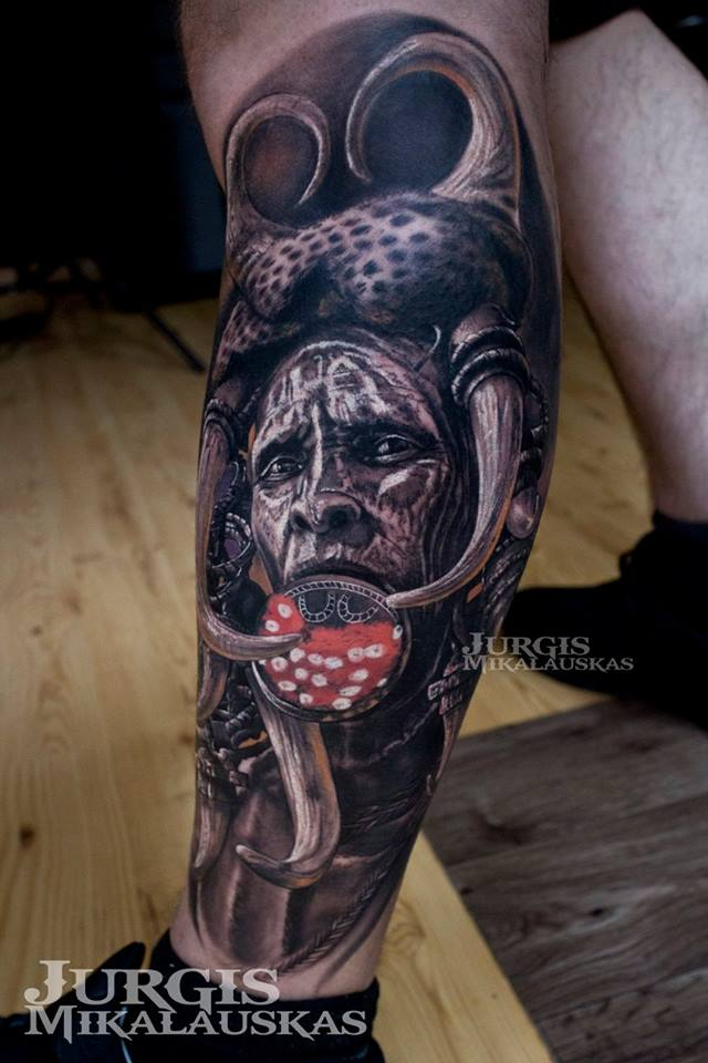 Realistic Mursi Tribe from Ethiopia