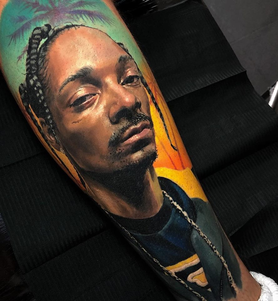 Realistic Snoop dogg tattoo3