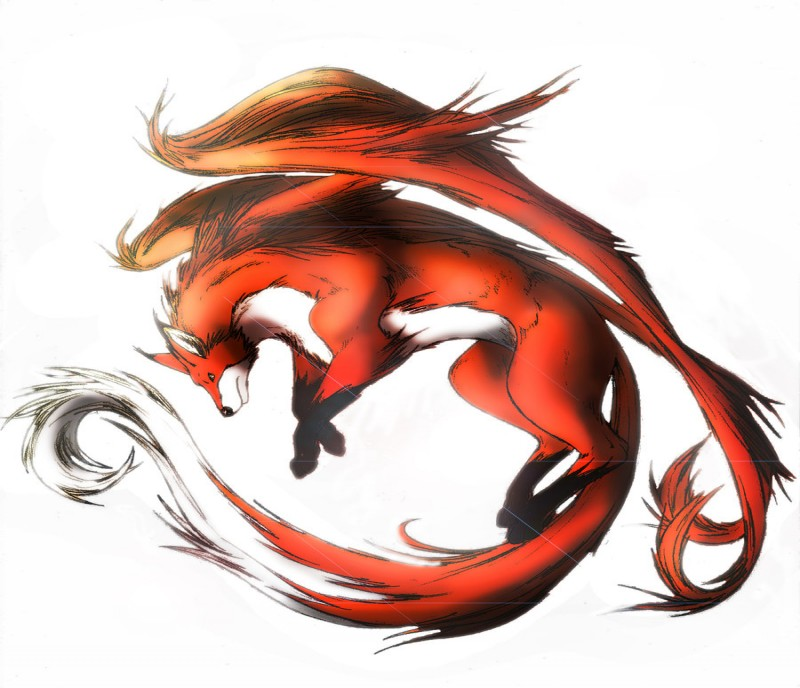 Red flying fox tattoo design by Clouds94