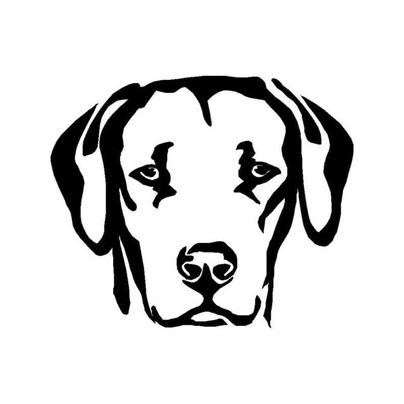 Sad black-ink dog muzzle tattoo design