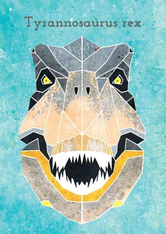 Scary dinosaur head with sharp teeth tattoo design