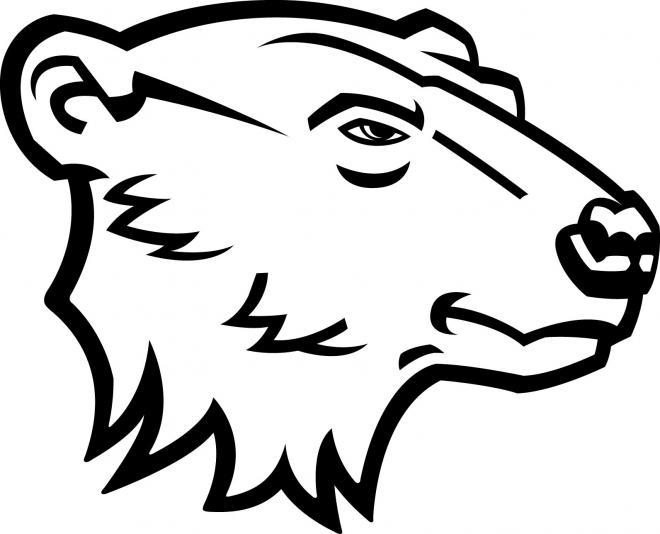 Severe outline polar bear head tattoo design ...