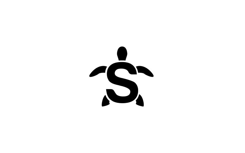 Simple S-shaped turtle tattoo design