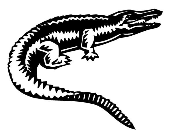 Simple black-and-white reptile tattoo design