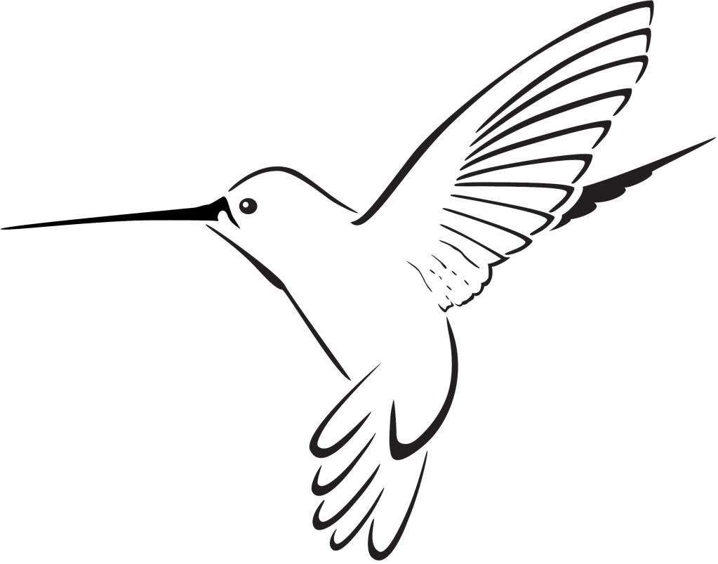 Simple Black Line Hummingbird Tattoo Design Tattooimages Biz