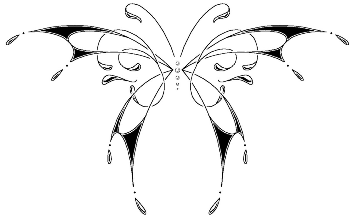 Simple Black Thin Line Butterfly Tattoo Design Tattooimages Biz